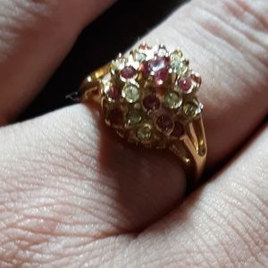 Jewelry - Pink and white diamonds cocktail ring